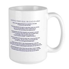 Luther Seal and Explanation Mug (navy, large)