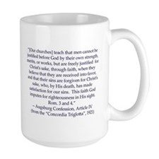 Augsburg Confession Article IV Mug (large)