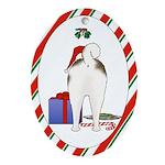 Akita Christmas Oval Ornament