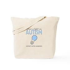 Shine a light on Autism Tote Bag