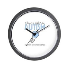 Shine a light on Autism Wall Clock
