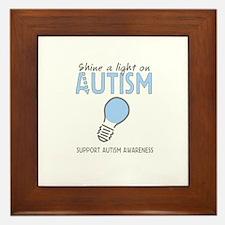 Shine a light on Autism Framed Tile