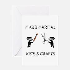 Mixed Martial Arts Crafts Greeting Card