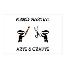 Mixed Martial Arts Crafts Postcards (Package of 8)