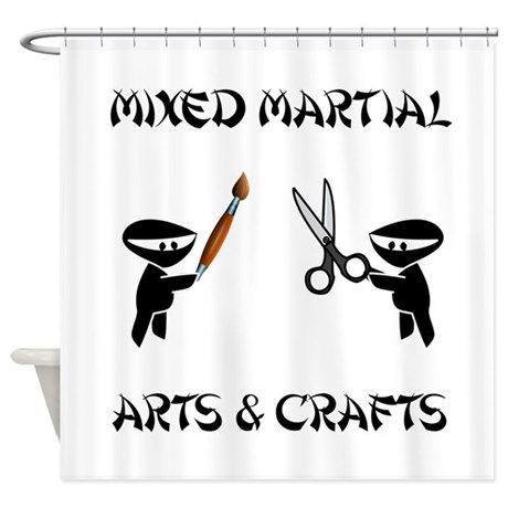 Mixed Martial Arts Crafts Shower Curtain by