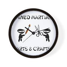 Mixed Martial Arts Crafts Wall Clock