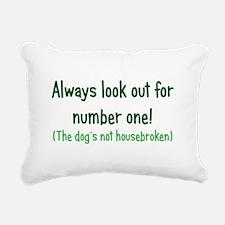 Dog is Not Housebroken Rectangular Canvas Pillow