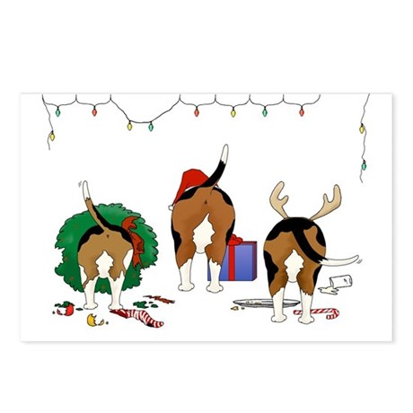 Beagle Christmas Postcards (Package of 8)