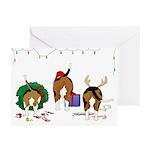 Beagle Christmas Greeting Cards (Pk of 10)