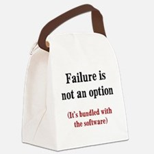 Software Failure Canvas Lunch Bag