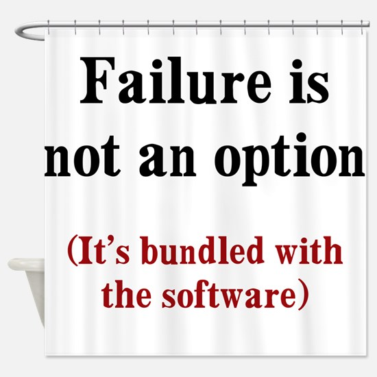 Software Failure Shower Curtain