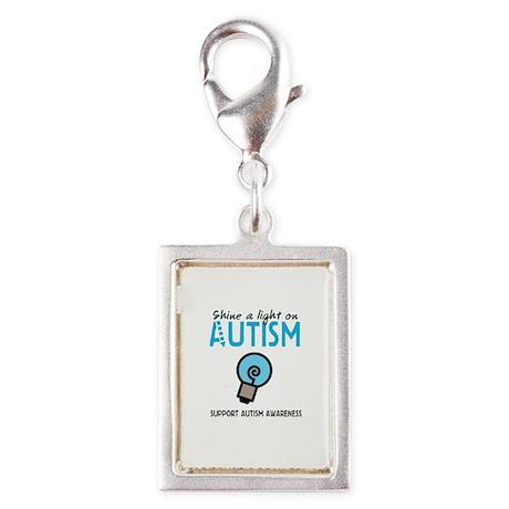 Shine a light on Autism Silver Portrait Charm