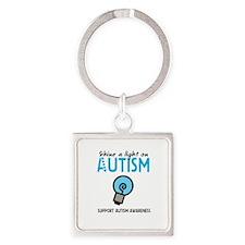 Shine a light on Autism Square Keychain