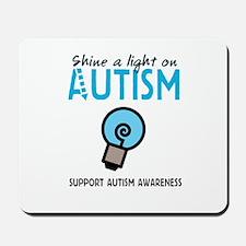 Shine a light on Autism Mousepad