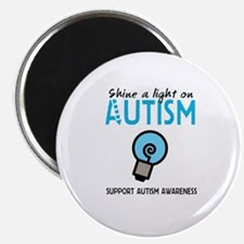 "Shine a light on Autism 2.25"" Magnet (10 pack)"