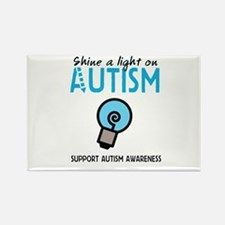 Shine a light on Autism Rectangle Magnet