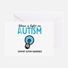 Shine a light on Autism Greeting Card