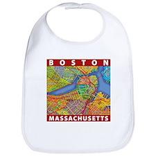 Boston Massachusetts Map Bib