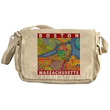 Boston Massachusetts Map Messenger Bag