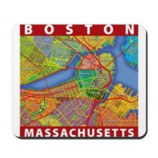 Boston Massachusetts Map Mousepad