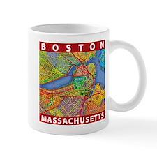 Boston Massachusetts Map Mug
