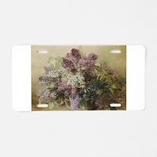 Beautiful Bouquet of Lilacs Aluminum License Plate