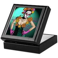 Flowers - Dia de los Muertos Keepsake Box