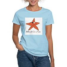 Senor Pirate Starfish Women's Pink T-Shirt