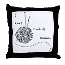 Knit Wit Throw Pillow