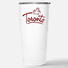 Toronto Leaf Script Travel Mug
