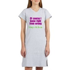 Wrong is Fun Women's Nightshirt