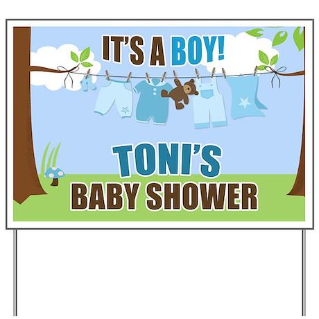 Tonis Baby Shower Custom Yard Sign Yard Sign