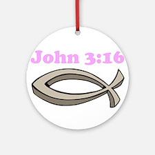 John 316 Ornament (Round)