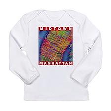 Midtown Manhattan Map Long Sleeve T-Shirt