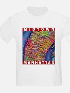 Midtown Manhattan Map T-Shirt