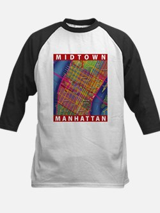 Midtown Manhattan Map Baseball Jersey
