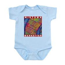 Midtown Manhattan Map Body Suit