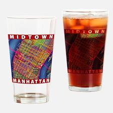 Midtown Manhattan Map Drinking Glass