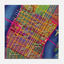 Midtown Manhattan Map Tile Coaster