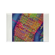 Midtown Manhattan Map Rectangle Magnet