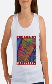Midtown Manhattan Map Tank Top