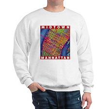 Midtown Manhattan Map Sweatshirt