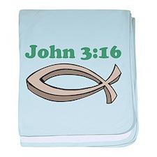 John 316 baby blanket