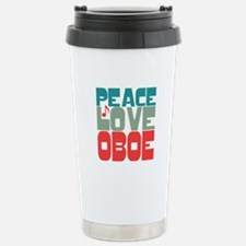 Peace Love Oboe Travel Mug