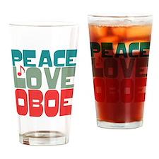 Peace Love Oboe Drinking Glass