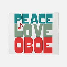 Peace Love Oboe Throw Blanket