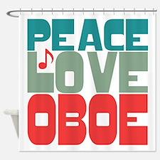 Peace Love Oboe Shower Curtain