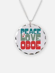 Peace Love Oboe Necklace