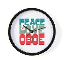 Peace Love Oboe Wall Clock