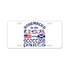 USA / Scottish Parts Aluminum License Plate